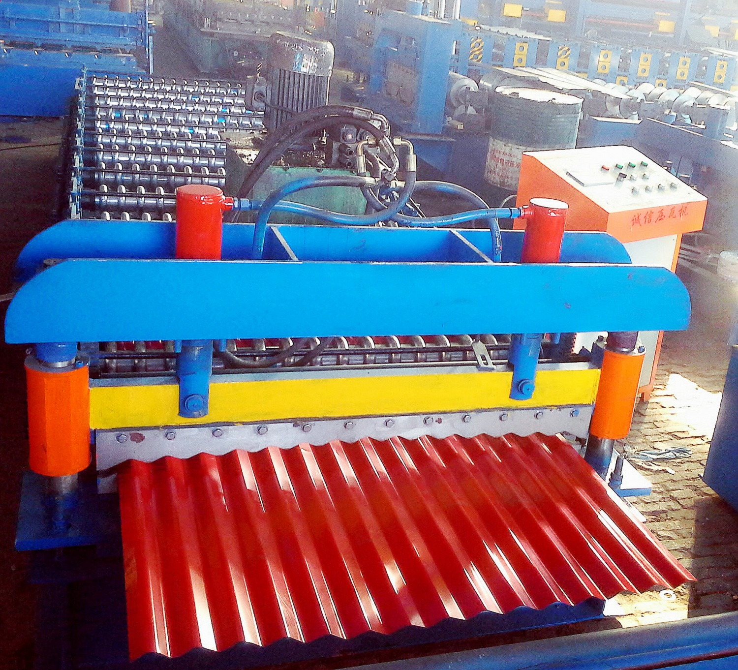 JCX 14-76-1065 Corrugated Sheet  Roll Forming Machine