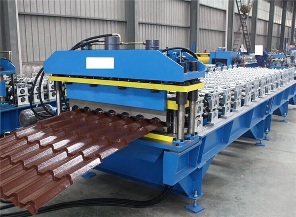 JCX color steel glazed roof forming machine