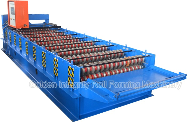 Corrugated iron roofing sheet roll forming making machine