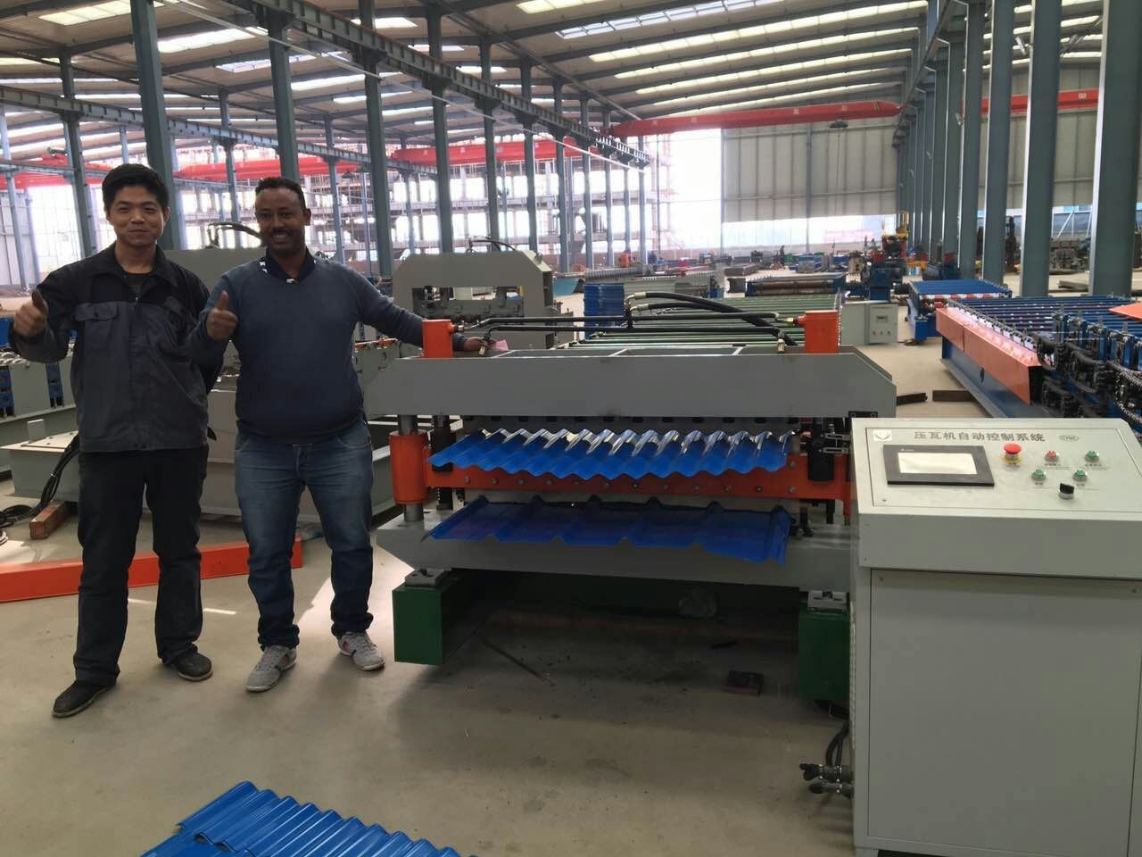 Double layer sheets forming machine